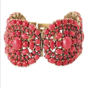 Stella & Dot Sardinia Red Statement Bracelet